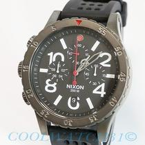 Nixon A278-1426 A2781426 48-20 Chrono P Gunmetal Black Red Mens Watch Nib New Photo