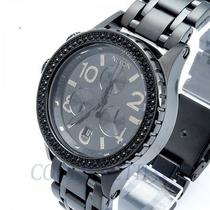 Nixon A404-1879 A4041879 Ladies Watch 38-20 Chrono All Black Crystal Ems Nib New Photo