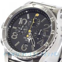 Nixon A486-000 A486000 Watch Mens 48-20 Chrono Black Silver W/extra Link Ems New Photo