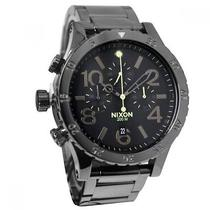 Nixon A486-1885 A4861885 Mens Watch 48-20 Chrono Polished Gunmetal Lum Link New Photo