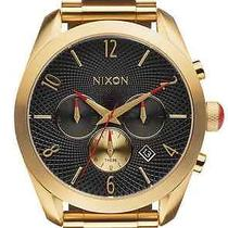 Nixon Bullet Chrono All Gold/black Men's Watches  Photo