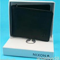 Nixon Cape Wallet Mens Black Real Leather  Bi Fold New in Gift Box Rrp 59.95 Photo