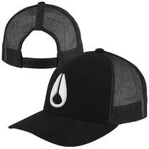 Nixon Iconed Trucker Adjustable Hat - Black/white Photo