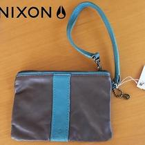 Nixon Ladies Mini Handbag Wallet Clutch Purse Wrist Strap  Charm Lucky Grey New Photo
