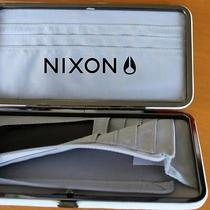 Nixon Ladies Snap Hard Case Long Wallet 100% White Leather Clutch Purse New Photo