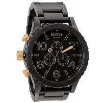 Nixon Men's Chrono Stainless Black Bracelet Band Black Dial Watch A0831041-00 Photo