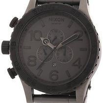 Nixon Men's Chrono Stainless Grey Bracelet Band Black Dial Watch A0831062-00 Photo