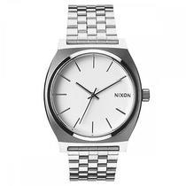 Nixon Men's Time Teller Stainless Silver Bracelet Band White Watch A045100-00 Photo
