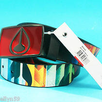 Nixon Mens Real Leather Belt Enamel Removable Buckle Waist 28-32 Small 99cm  New Photo