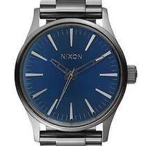 Nixon Sentry 38 Ss Gunmental/cobalt Sunray Men's Watches Photo