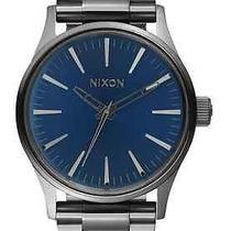Nixon Sentry 38 Ss Gunmetal/ Cobalt Sunray Men's Watches  Photo