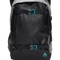 Nixon Smith Skatepack Ii Backpack Grey Black Turqoise New  Photo