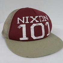 Nixon Taped Trucker Burgundy Khaki  Hat Cap Surf Photo