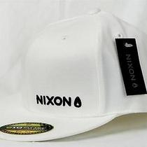 Nixon Watch Basis Ff Fitted Hat Surf Skate Biker Baseball Cap Men (S/m) White Photo