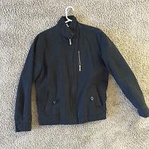 Nixon Watch Brand Black Cotton Mens Medium Jacket Plaid Lining Excellent Photo