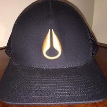 Nixon Watch Snapback Trucker Hat Cap Black Photo