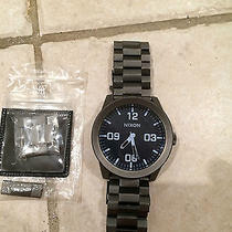 Nixon Watch the Corporal Ss Gunmetal / Blue Crystal Photo