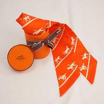 no.40476authentic Hermeshermestwilly  Scarf Orange Photo