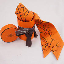 no.42037authentic Hermeshermestwilly Scarf Orange  Photo