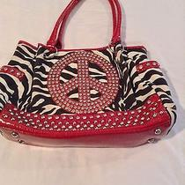 No Name Brand Red Colored  Purse Handbag Women's Photo