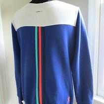 No Reserve Adidas Climalite Blue Purple Color Block Sweatshirt-Run-Sample Size Photo