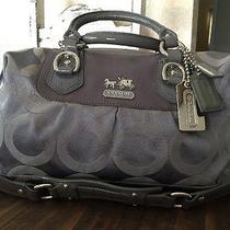 No Reserve Coach Madison Sabrina Ashley Dove Grey Op Art Satchel Shoulder Bag Photo