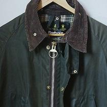 No Reserve Vtg Sz S/xs 36barbour Bedale Jacket Olive Green A100 Grunge Slimfit Photo