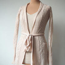 Noa Noa New Fairy Knit Wool Mohair Crochet Cardigan Blush Pink Boho Romantic S Photo
