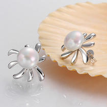 Noble 925sterling Silver Swarovski Crystal Sunflower Women Stick Earrings Le039 Photo