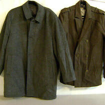 Nordstrom Men's Shop Wool Blend Top Coat Grey Size 46r and Guess Med. Lot of 2 Photo