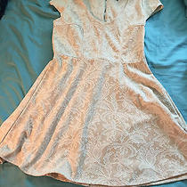 Nordstrom Rack Want and Need Lace Blush Pink Floral Swing Dress Wedding Sz Lg  Photo