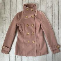 Nordstrom Thread & Supply Women's Sz Xs Blush Pink Double Breasted Pea Coat Nwt Photo