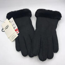 Nordstrom Ugg Sheepskin Glove With Fur Black Small Photo