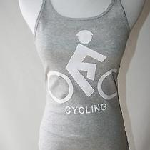 Norma Kamali Cycling Biking Grey Tank Top Size Medium Photo