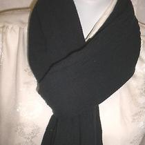 Norma Kamali Ladies Solid Dark Charcoal Gray Scarf Acrylic Polyester Photo