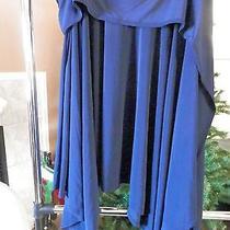 Norma Kamali Timeless Spiegel Exclusive Navy Convertible Tie-Waist Skirt Size L Photo