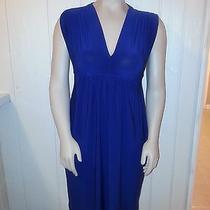 Norma Kamali v Neck Dress Small Blue  Photo