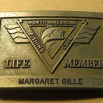 North American Fishing Club Belt Buckle Very Condition Photo