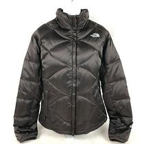North Face 550 Down Puffer Jacket Womens Size L Brown Photo