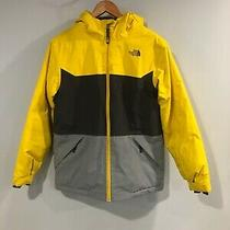 North Face Boys Xl Coat Parka Jacket Puffer Yellow Black Excellent Photo