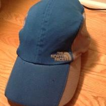 North Face Flight Series Blue Gray Mesh Running Biking Hat  Photo