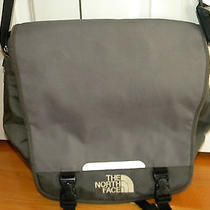 North Face Gray & Black Laptop Messenger Bag Photo