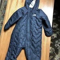 North Face Infant Baby Quilted Black Snowsuit Bunting 12-18 Months Excellent  Photo