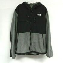 North Face Jacket Mens Xl Denali Black Polartec Hooded Fleece Full Zip Outdoors Photo