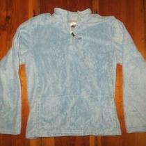 North Face Light Blue Pullover Plush Fleece Jacket Girls Xl 18 Photo