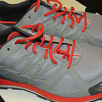 North Face Mens Litewave Running Shoes Size 9 Griffin Grey/red Nwt Photo