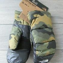 North Face Mens Nuptse Mittens Camouflage Nwt Medium Photo