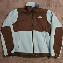 North Face Women's Full Zip Jacket Baby Blue Size Small Fleece Lined Photo