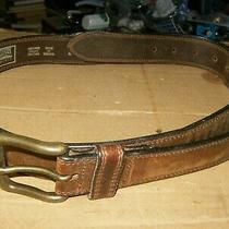 Northern Elements Men's Brown Genuine Leather Belt Size 40 Vg-Shape Canada Photo