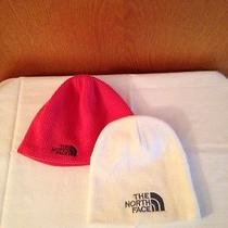 Northface Hats Lot of 2 Orange and Cream in Color Mint Condition Photo